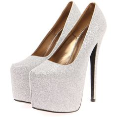 Boohoo Sofia Silver All Over Glitter super High Platform Heels (4865 RSD) ❤ liked on Polyvore Sparkly Heels, Boohoo, Peep Toe, Platform, Glitter, Shoe Bag, My Style, Polyvore, Silver