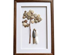 Pebble Art Wedding Gift Unique Engagement by MedhaRode on Etsy
