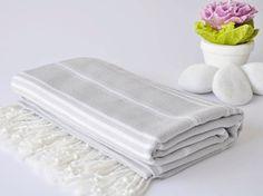 SALE%50OFF TURKISH TOWEL Gray 40x70 100x180cm