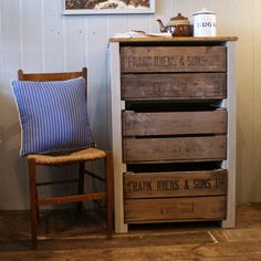 Vintage Fruit Crate Storage Unit - Folksy. How cute would this be for shoes in the mud room?