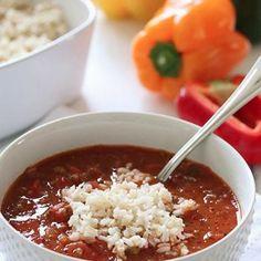 Stuffed Pepper Soup Recipe - Skinnytaste