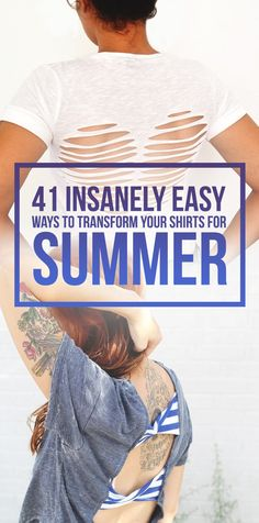 41 Insanely Easy Ways To Transform Your Shirts For Summer - Weird Shirts - Ideas of Weird Shirts - 41 Insanely Easy Ways To Transform Your Shirts For Summer The weird tan lines will totally be worth it. Old T Shirts, Cut Shirts, Work Shirts, Shirt Transformation, Shirt Hacks, Do It Yourself Inspiration, Style Inspiration, Diy Vetement, Do It Yourself Fashion