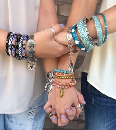 Sweeten up your style with our #yummy selection of #armcandy! Come check out our new arrivals & new markdown styles! Only in our Austin store! #sweet #stacked #style #sothread #austin — at Southern Thread @ The Domain.
