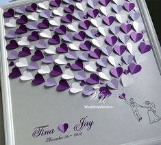 Wedding Guest Book Ideas Silver and Purple Wedding Tree Wedding Guest Book Al . - Wedding Guest Book Ideas Silver and Purple Wedding Tree Wedding Guest Book Alternative to traditional guest book # design - Wedding Tree Guest Book, Tree Wedding, Wedding Book, Wedding Signs, Diy Wedding, Wedding Day, 2017 Wedding, Wedding Bedroom, Wedding Souvenir
