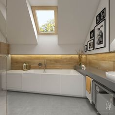 Houtlook panelen in de badkamer in plaats van tegels | Badkamer ...