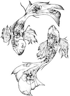 Design By Humans Pisces Men's Graphic Tank Top Coy Fish Tattoos, Dope Tattoos, Dream Tattoos, Mini Tattoos, Future Tattoos, Body Art Tattoos, Small Tattoos, Pisces Fish Tattoos, Tatoos