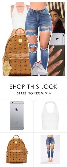 """Untitled #1107"" by msixo ❤ liked on Polyvore featuring Topshop, MCM, NIKE and Rolex"