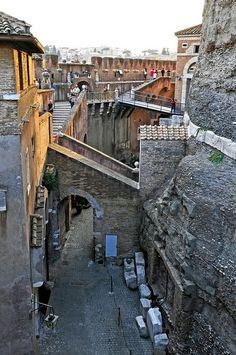 I like how the light warms the wall - Castel Sant'Angelo, Rome