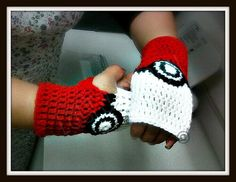 Pokemon Fingerless Gloves by LJ Slim size by KRFTYLAURA on Etsy, $18.00