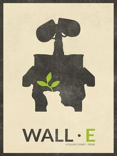 WALL-E Cartoon Poster WALL E Retro Poster by BaydleCreative