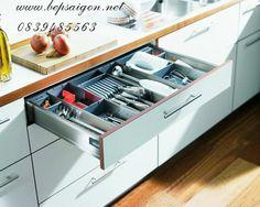 Phụ kiện tủ bếp tràn đầy ánh xuân sang | Tủ bếp gia đình, tủ bếp hiện đại, tủ bếp cao cấp
