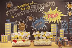 Cute decorating ideas in the blog. Love the flowers and superhero quotes.