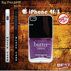 Butter London sparkling purple Nail Chanel Polish iphone 4(s) case and iphone 5 case, Butter London - iphone 4 case, iphone 4s case, iphone 5 case