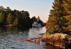 The Segwun in the Narrows, Lake Muskoka River, Outdoor, Outdoors, Outdoor Games, Outdoor Living, Rivers