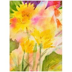 Trademark Art Springtime Floral Canvas Wall Art by Shelia Golden, Size: 26 x 32, Multicolor