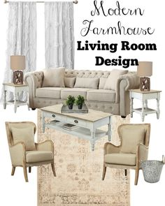 Modern Farmhouse Living Room Design and Tips
