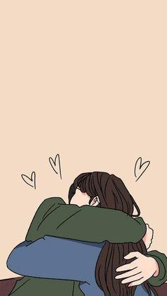 Cute Couple Drawings, Cute Couple Cartoon, Cute Couple Art, Cute Love Cartoons, Anime Couples Drawings, Cute Couples, Kawaii Wallpaper, Cute Wallpaper Backgrounds, Wallpaper Iphone Cute