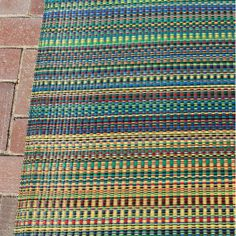Mad Mats Mix Indoor/Outdoor Floor Mat, 6 by Rainbow Outdoor Floor Mats, Indoor Outdoor Rugs, Outdoor Living, Rugs And Mats, Medium Rugs, Wooden Decks, Blue Area Rugs, Mad