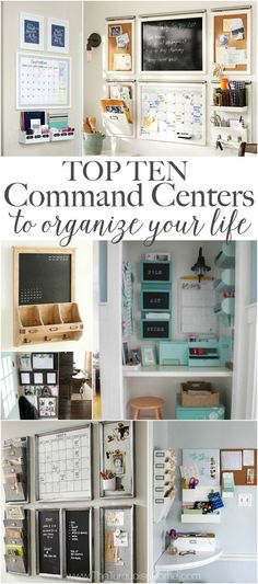 I used to stick my nose up at command centers. But I've realized they are FABULOUS for organizing your life. 10 Top Family Command Centers to Organize Your Life