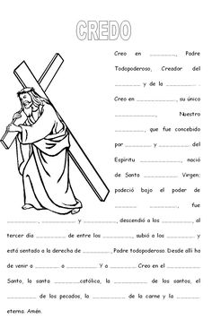 Para fer Catholic Catechism, Catholic Religious Education, Catholic Crafts, Catholic Kids, Church Activities, Bible Activities, Sunday School Crafts For Kids, Teaching Religion, Prayers For Children