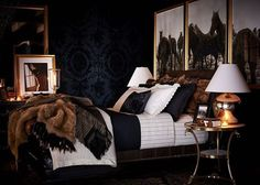 Accessoires schlafzimmer ~ Bedroom with fur blanket scandinavian home accessories
