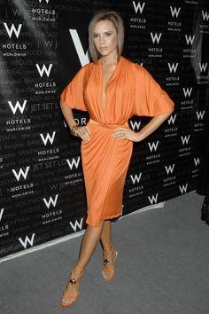 Victoria Beckham.. Donna Karan drapery with Versace heels..