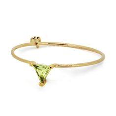 little emblem gold ring peridot  LE-AR207-236 #littleemblem #ring #gold #peridot #ruby #triangle #em #emgrp