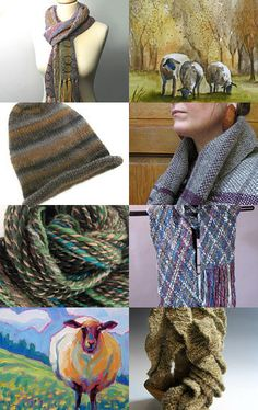 Wool = Warmth, Naturally by #aclhandweaver #handweaversofetsy #wool #fiber #scarves #hats #weaving #winter