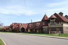 Old horse barn, designed by George Mason, Belle Isle, Detroit Dream Stables, Dream Barn, Detroit History, George Mason, Barns, Equestrian, Michigan, Buildings, Cabin