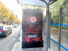 Acción especial en mupi para Burger King