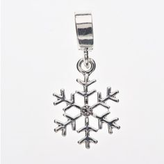 Cancer Research UK snowflake charm