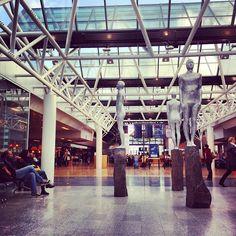 Keflavik International Airport.  Refueling stop on the way to Paris France