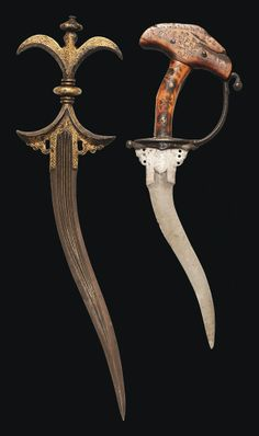 TWO STEEL DAGGERS DECCAN AND POSSIBLY ORISSA, 17TH AND 18TH CENTURY | Christie's