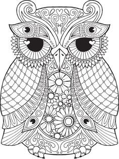 Arnold Owl - Colour with Me HELLO ANGEL - coloring, design, detailed…