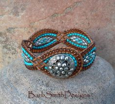 Turquoise Silver Brown Cuff Bracelet The Twisted Sister