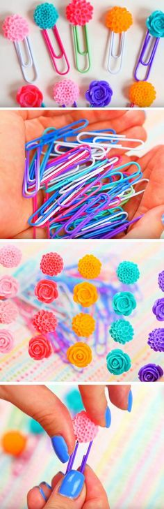 Floral Paper Clips | DIY Tumblr Inspired School Supplies for Teens you need to try!