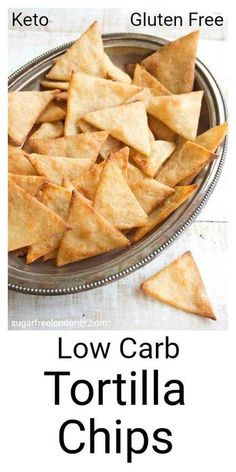 Crispy, crunchy and perfect for dipping! These Keto low carb tortilla chips taste just as good as the real thing, but with a fraction of the carbs. lowcarb keto lchf snack tortillachips healthyrecipe lowcarbrecipe cleaneating glutenfree via Low Carb Bread, Low Carb Keto, Low Carb Recipes, Snack Recipes, Low Carb Snack Ideas, Diet Recipes, Smoothie Recipes, Appetizer Recipes, Keto Carbs
