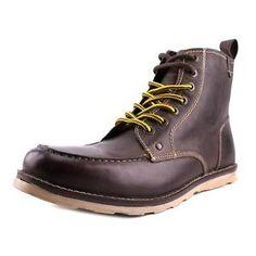Crevo Buck Men  Moc Toe Leather Brown Boot | eBay