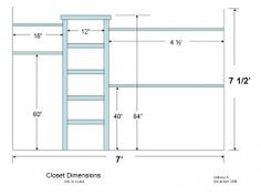 DIY Closet Organizer Plans: Customize Your Closets. Walk In Closet  DimensionsCloset ...