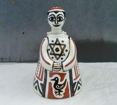 RARE BERNARD MOSS STUDIO POTTERY MEVAGISSEY CORNWALL NODDING FIGURE 1950s | eBay