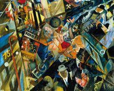 George Grosz: Tempo der Strasse (The Tempo of the Street), Photograph: Courtesy Richard Nagy Ltd. Ludwig Meidner, George Grosz, Art Students League, Singular, Political Art, World War One, Environmental Art, City Art, Dibujo