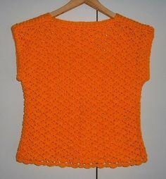 Lady's crochet lacy sleeveless jumper ref 457 £15.00
