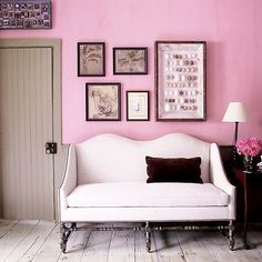 Soft pink can go casual as easily as it can go grand, and it looks at home with the rustic planks and bead boarding of laid-back country retreats. Consider using pink paint for the walls in an entryway to create a warm welcome for guests.