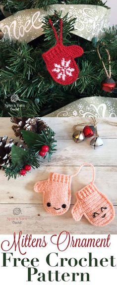 Mittens Ornament - Spin a Yarn Crochet