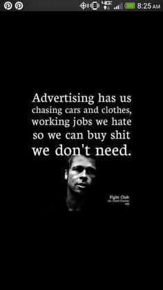 Dont be a consumer