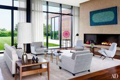 mid century living area