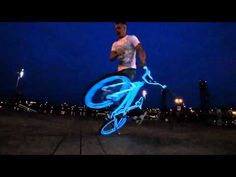 EL Wire BMX video