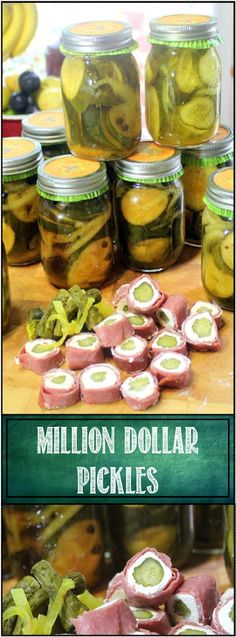 Million Dollar Pickles - 52 Small Batch Canning Recipes... These are such a wonder... Sweet (but not too sweet), thick slice, crispy, crunchy and a unique flavor that will be a delight year round. BURGERS, here I come!