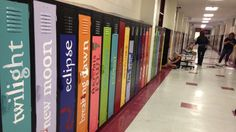 School lockers painted as book spines. (scheduled via http://www.tailwindapp.com?utm_source=pinterest&utm_medium=twpin&utm_content=post6319738&utm_campaign=scheduler_attribution)
