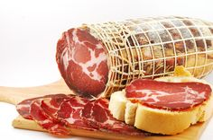 Capicollo a single piece of meat rolled and cured soooo good in sandwiches a Calabrian speciality #slow food
